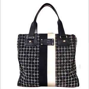 Kate Spade Classic Dot Noel Leather & fabric bag